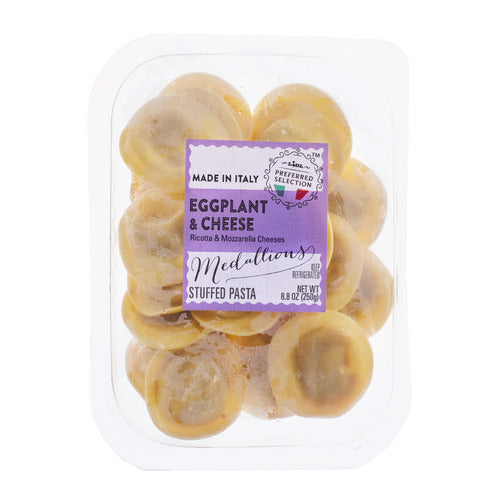 Lidl Preferred Selection stuffed medallions pasta, eggplant & cheese