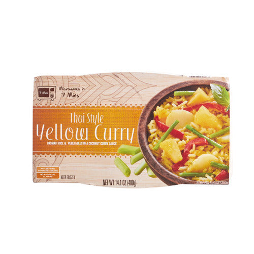 Lidl frozen Thai style dish, yellow curry