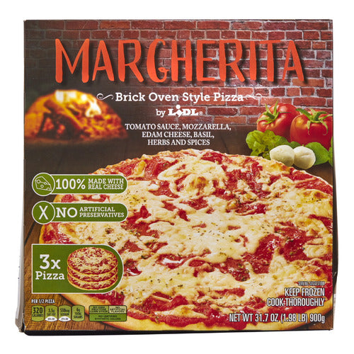 Lidl frozen margherita brick oven style pizza