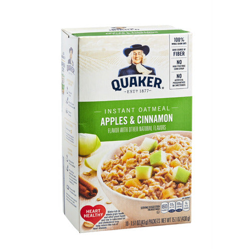 Quaker® instant oatmeal apples & cinnamon