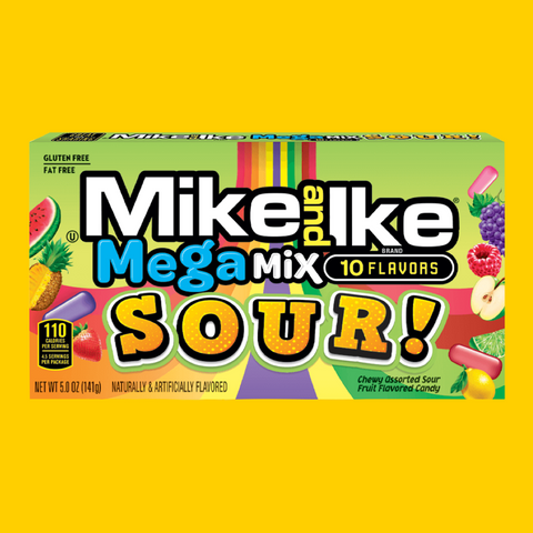 Mike & Ike Mega Mix Sour Theatre Box