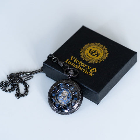 Steampunk Pocket Watch | Gunmetal | The Armstrong