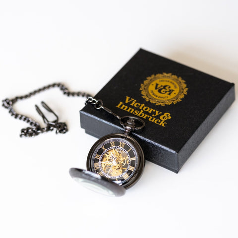 Steampunk Pocket Watch | Gunmetal | The Stephenson