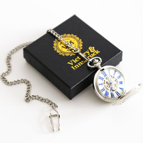 Steampunk Pocket Watch | Silver | The Nelson