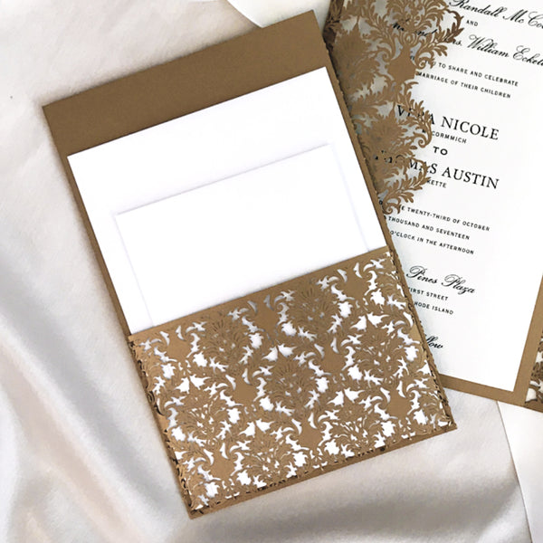 Laser Cut Invitation Pockets