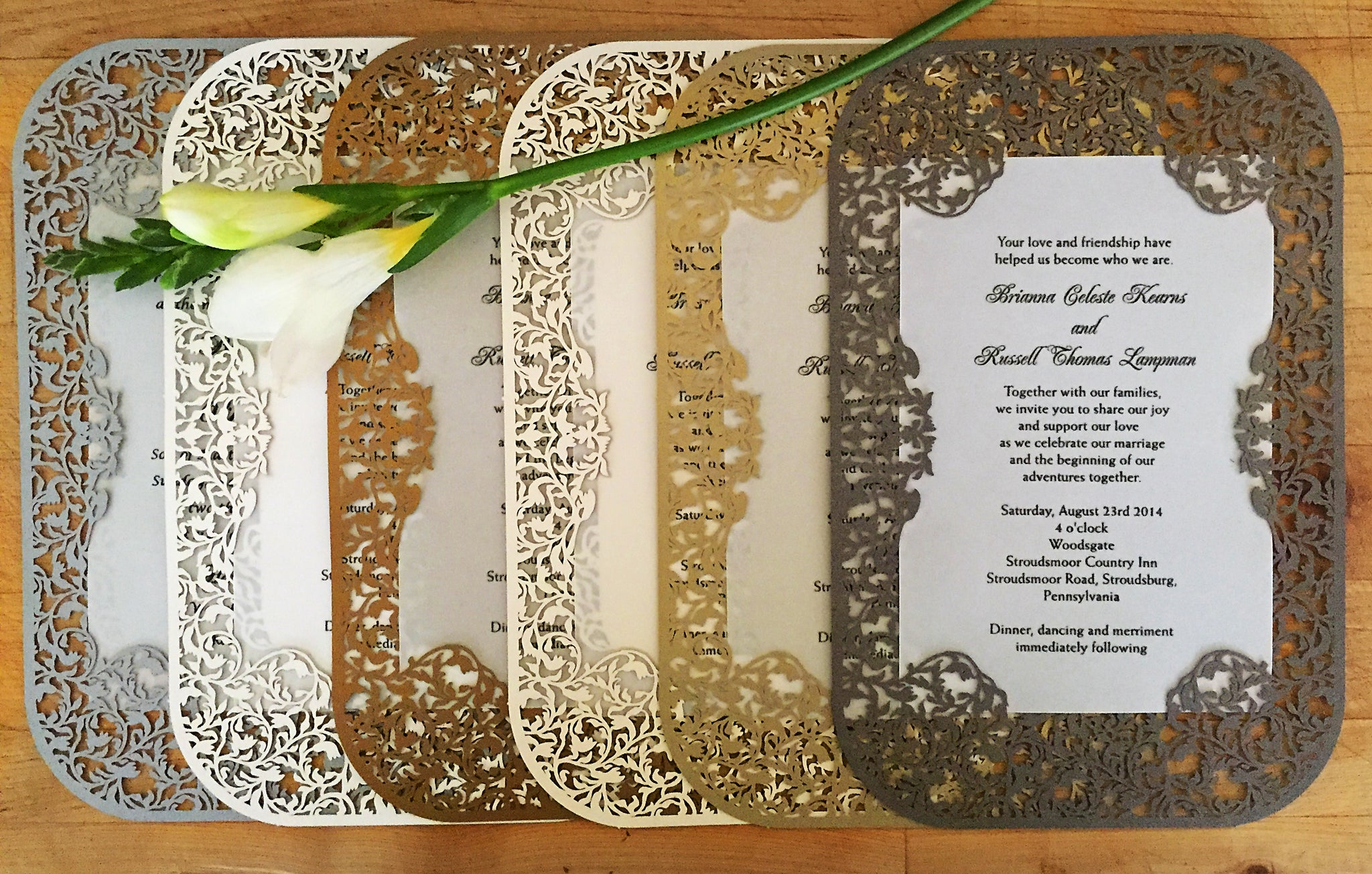 crocus spirals invitation