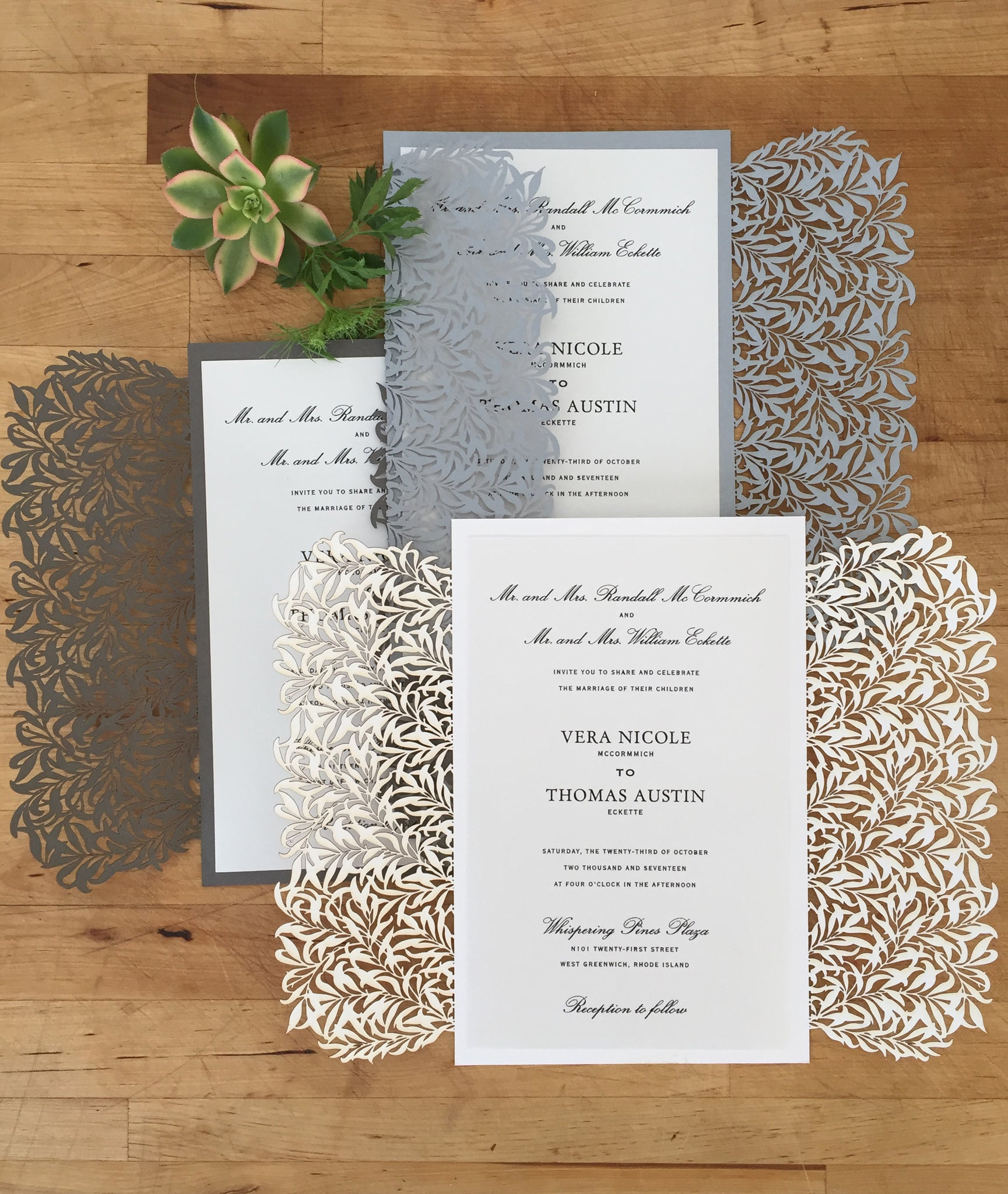 willow wedding invite