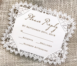 Bohemian Lace  Response Card / Accessory Card (A2)