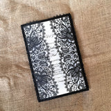 Bohemian Lace Laser Cut Invitation in Black Matte