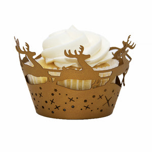 Reindeer Laser Cut Holiday Cupcake Wrapper