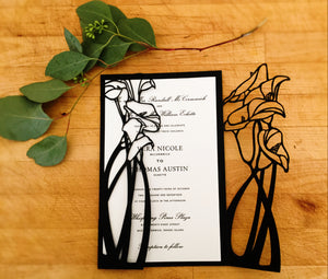 Calla Lily Gatefold Invitation (A9)