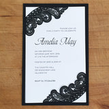 Chantilly Lace Flat Invitation (A9) Sample