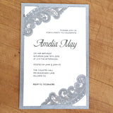 Chantilly Lace Flat Invitation (A9)