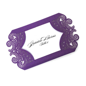 Chantilly Lace Flat Place Card - Laser Cut Piece Only