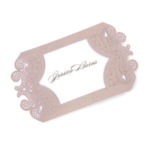 Chantilly Lace Escort Card / Gift Tag Sample