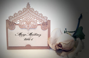 Chantilly Lace Place Card
