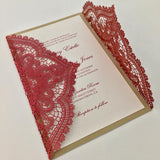 Chantilly Lace Gatefold Invitation (A9) Sample