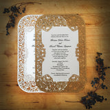 Crocus Spirals Flat Invitation (A9) Sample