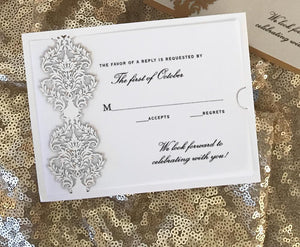 Damask Response Card / Accessory Card (A2)