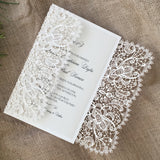 Bohemian Lace Gatefold Invitation (A9)