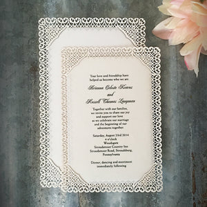 Filigree Flat Invitation (A7)
