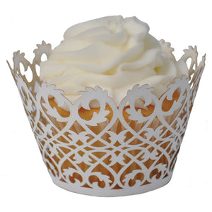 Filigree Cupcake Wrapper - (Standard & Mini Sizes)