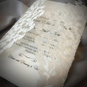 Ginkgo Leaves Gatefold Invitation (A9)