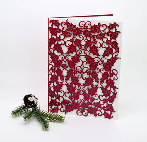 Holly Leaf Folded Card (A7)