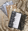 Damask Gatefold Invitation (A9) Sample