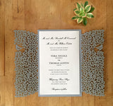 Perfect Pair Gatefold Invitation (A9) Sample