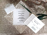 Italian Ornate Square Invitation Sample