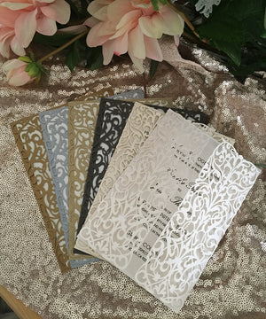 Italian Ornate Gatefold Invitation (A7)