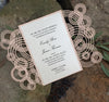 Eternal Rings Gatefold Invitation (A7) Sample