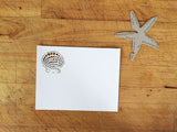 Laser Cut Seashells Response Card in White Matte