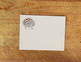 Laser Cut Seashells Response Card in Ivory Matte