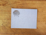 Laser Cut Seashells Response Card in Silver Shimmer