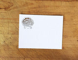 Laser Cut Seashells Response Card in White Shimmer