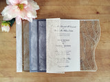 Wispy Palms A9 Gatefold Invitation