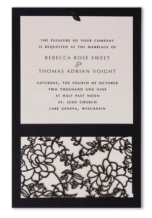 Jessamy Rose Flat Invitation (A9)