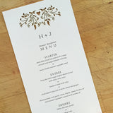 Love Vines Tea Length Menu / Program