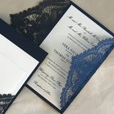 Chantilly Lace Gatefold Invitation (A9)