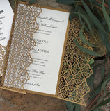 Moorish Leaves Gatefold Invitation (A9)