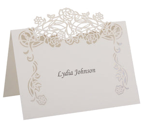 Rose Vine Place Card