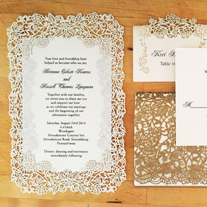 Rose Vine Flat Invitation (A9)