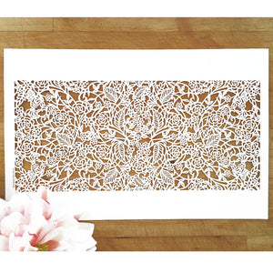 Rose Vine Laser Cut Sheets