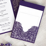 Roses Invitation Pocket  (A9) Sample