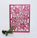 Holiday Flower Folded Card (A7)