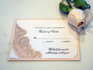 Chantilly Lace Response Card / Accessory Card (A2)