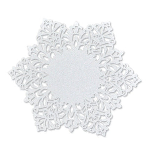 Unique and Elegant Laser Cut Tags Perfect for a Holiday Party; The Style is Snowflake