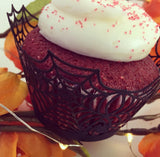Spider Web Cupcake Wrappers - (Standard & Mini Sizes)